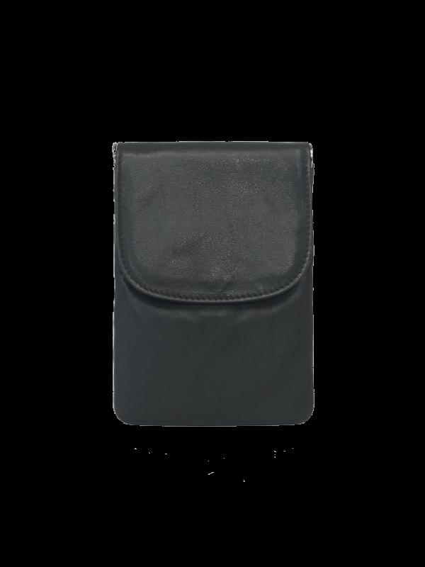 Flot crossover mobilaske i grå nuance - Unika skindtaske fra Cosystyle