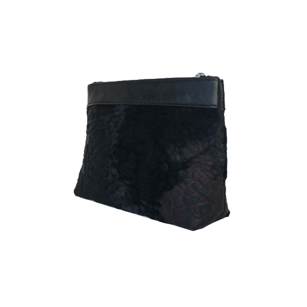 Lækker makeup taske i sort gedeskind - Unika skindtaske fra Cosystyle