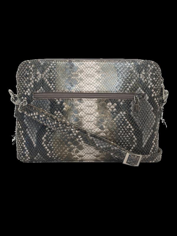 Smart slangeskinds præget crossover taske i kalveskind - Unika skindtaske fra Cosystyle