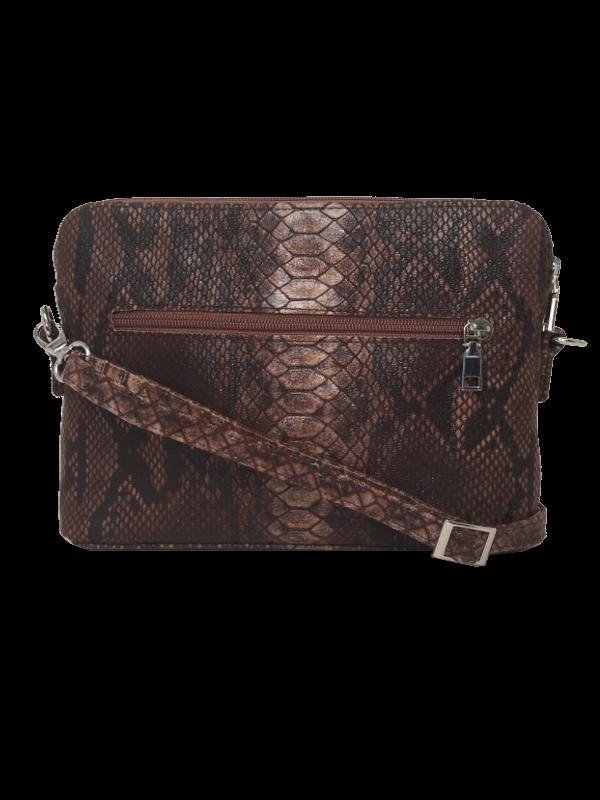 Smuk crossover taske i naturbrune nuancer - Unika Skindtaske fra Cosystyle