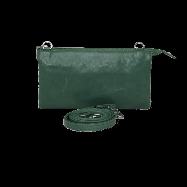 Elegant crossover clutch i lækkert lammeskind - unika skindtaske fra Cosystyle