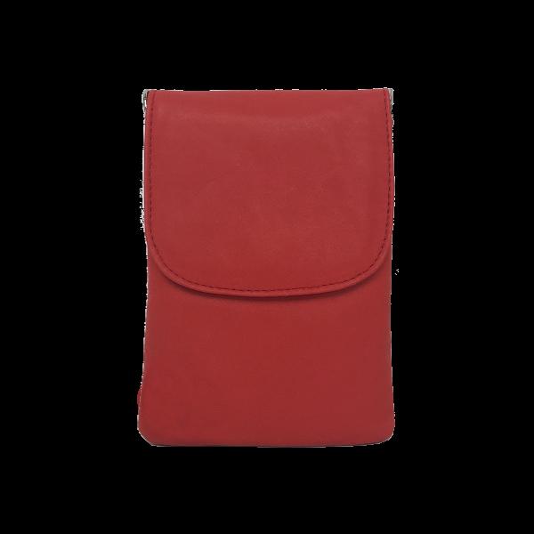 Smuk crossover mobiltaske Skagen i rød nuance - Unika skindtaske fra Cosystyle
